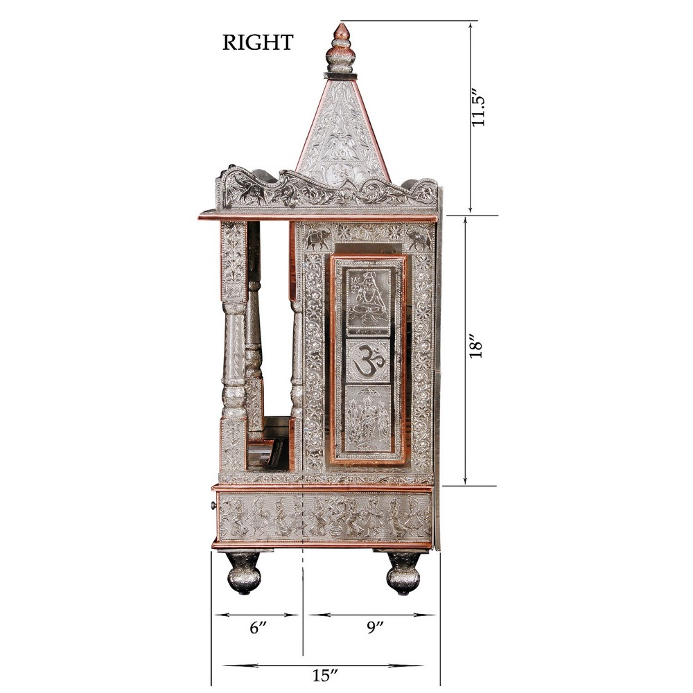 Small German Silver Pooja Mandir for Home and Offices - GC152138 ...