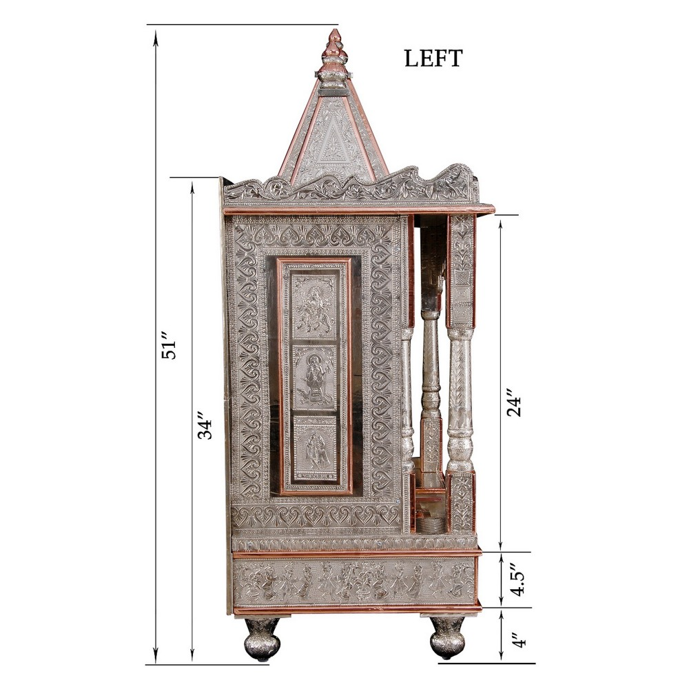Big German Silver Pooja Mandir for Home And Offices - GC183651 ...
