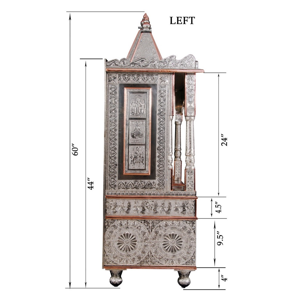 Big German Silver Pooja Mandir for Home and Offices - GCB183660 ...