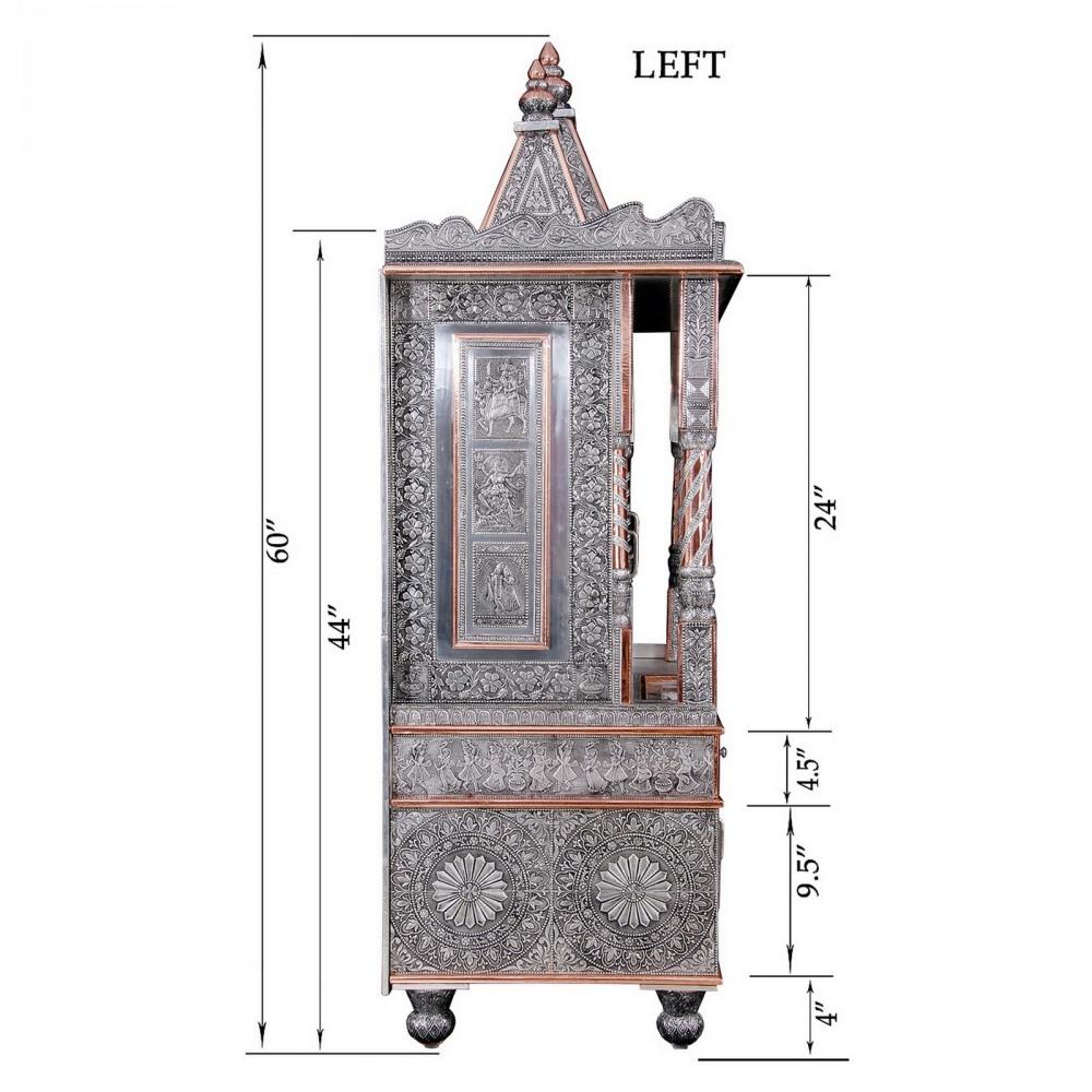 Big Oxidized Ghar Mandir for Home and Offices - OCB183660 - Oxidized ...