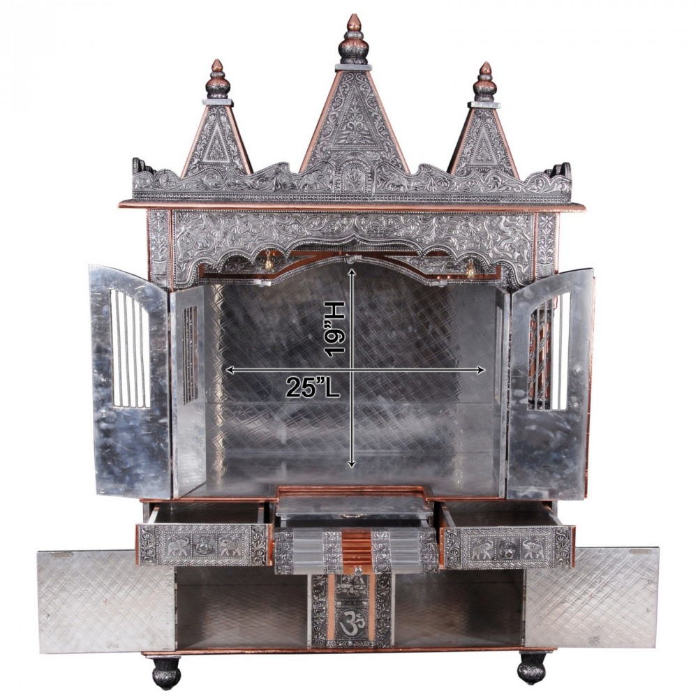 Big Oxidized Ghar Mandir For Home And Offices   OCB183660   Oxidized Temples,  Temples