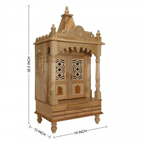 Sevan Wooden Temple Mandir For Home Puja 19lx13b Sw131938 Sevan