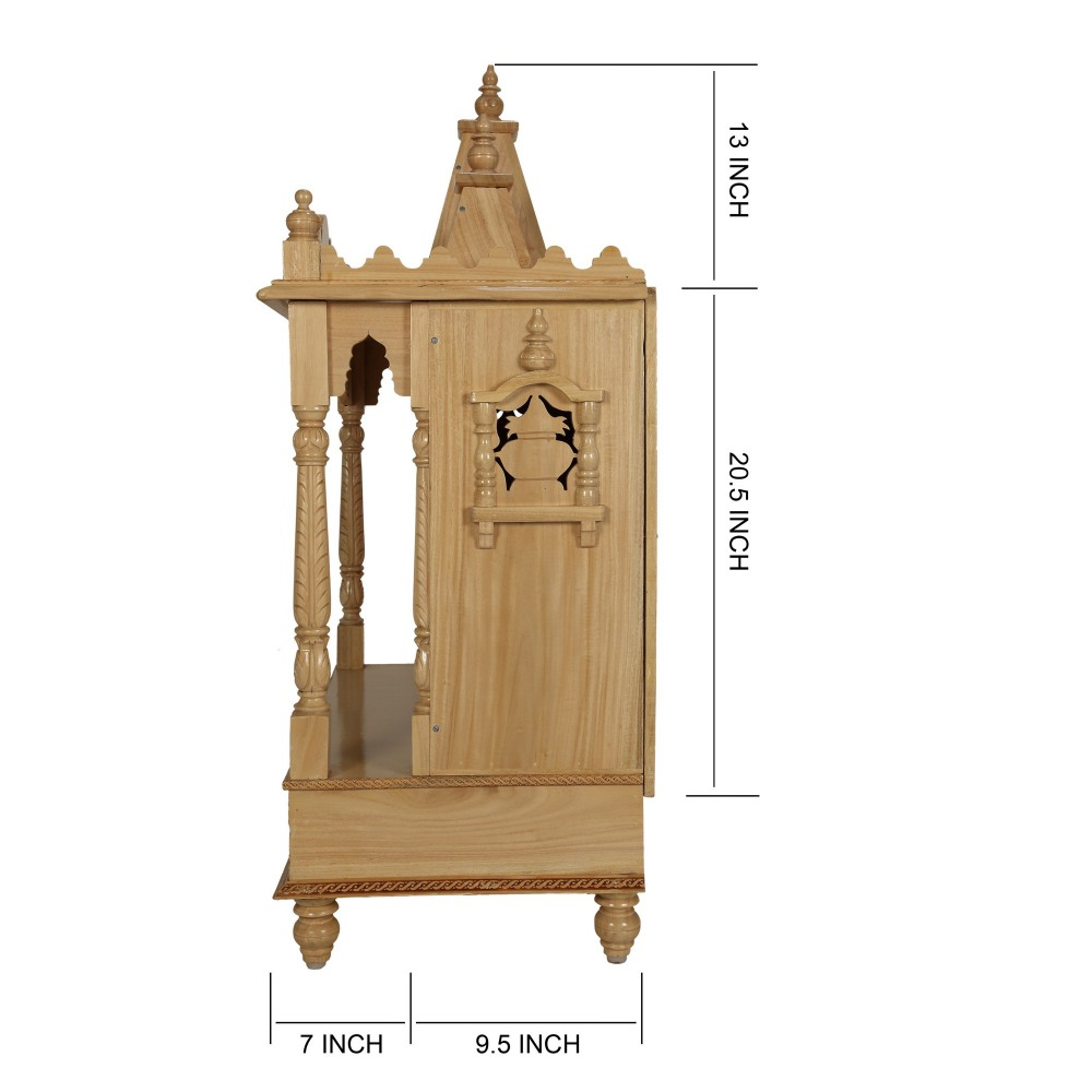 Wooden Temple for Home Puja with Three Domes - SW162941 - Sevan Wood ...