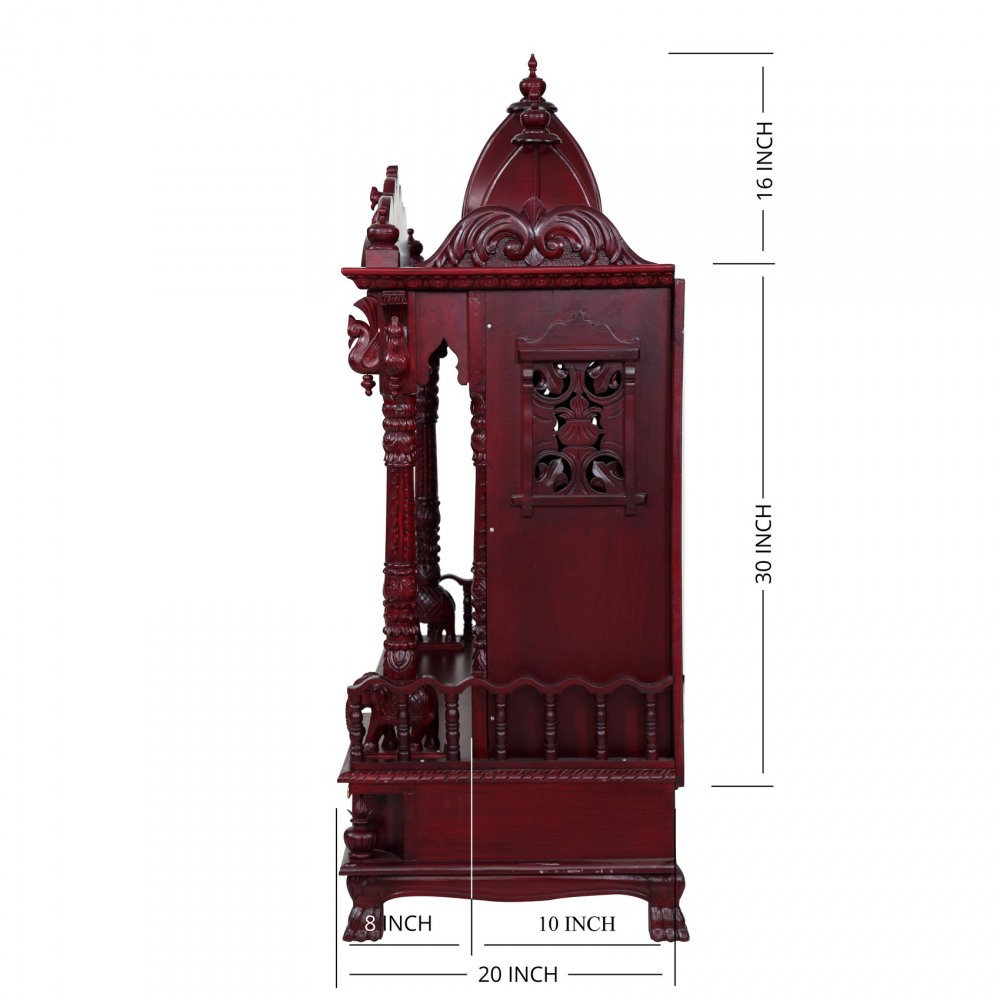 Wooden Big Temple with Door and Beautiful Carving for Home ...