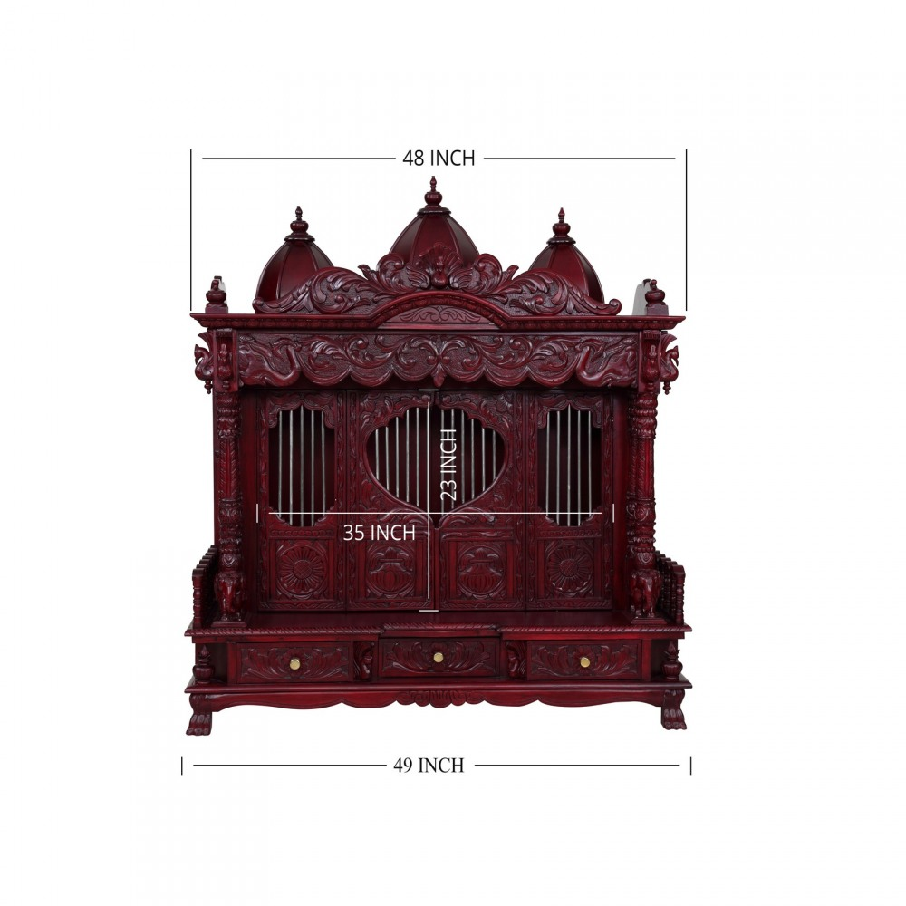 Wooden Big Temple with Door and Beautiful Carving for Home - 280814_3024 - Sevan Wood Mandir Temples  sc 1 st  EZ Kapasi & Wooden Big Temple with Door and Beautiful Carving for Home ...