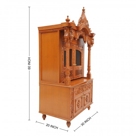 Traditional Mandir Design Handcrafted In Wood For Home 210812 0929 Teak Wood Temple Temples