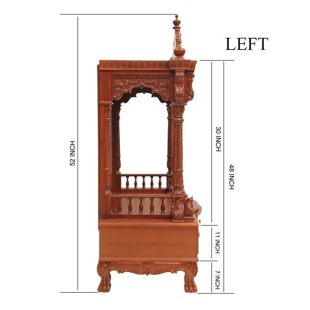 Indian Handcrafted Traditional Mandir Design For Home 230812 0948 Teak Wood Temple Temples