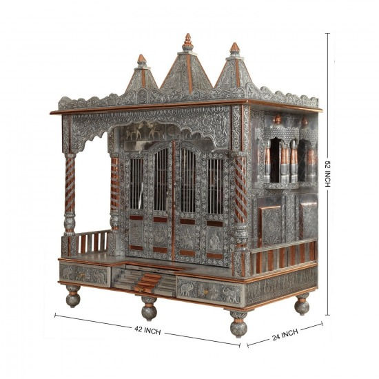 Oxidised Vaishnav Shreenathji Pushtimarg Temple Designs for Home ...