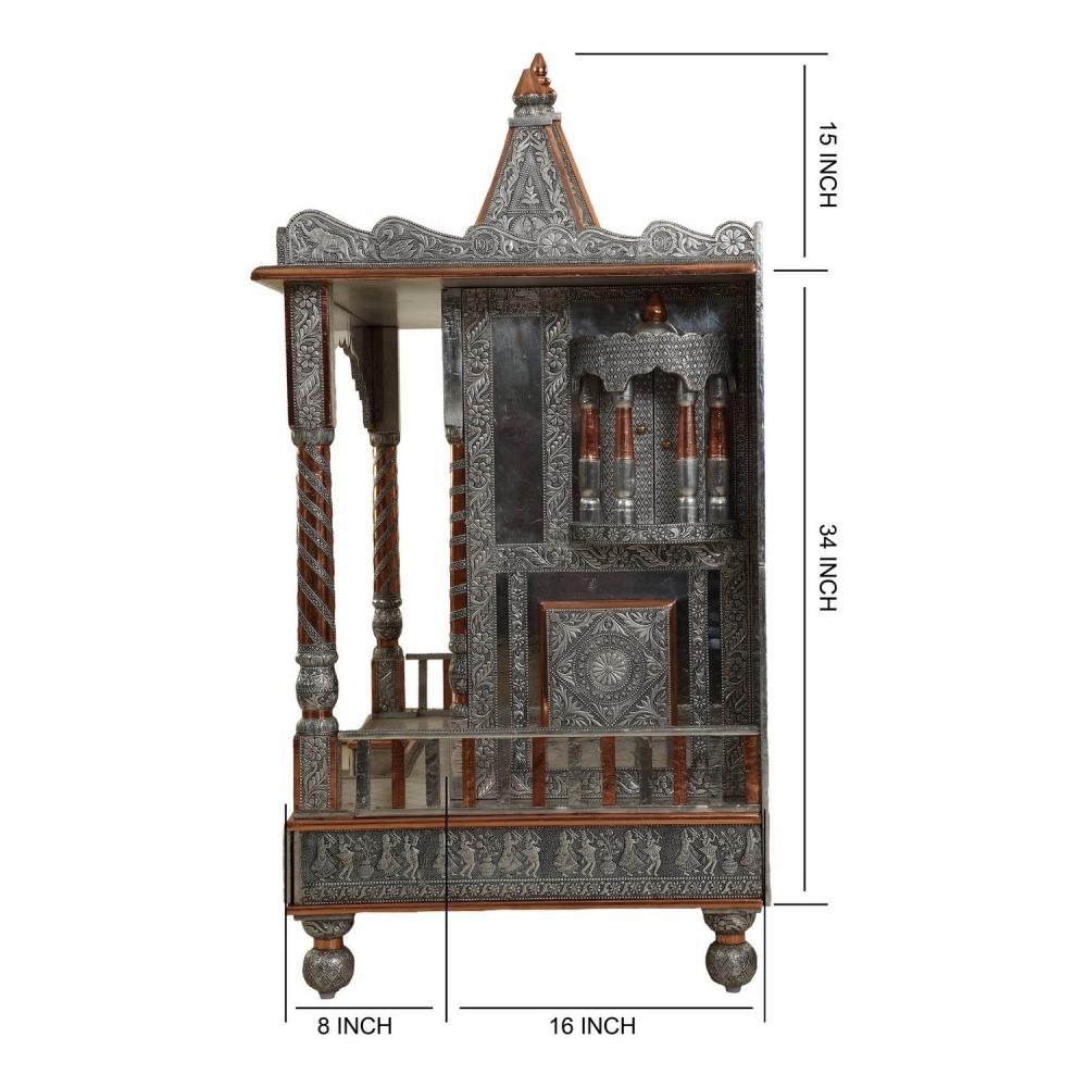 Oxidised vaishnav shreenathji pushtimarg temple designs for Temples at home designs