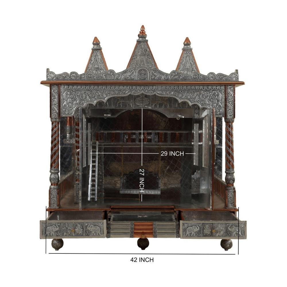 Oxidised Vaishnav Shreenathji Pushtimarg Temple Designs for Home ...