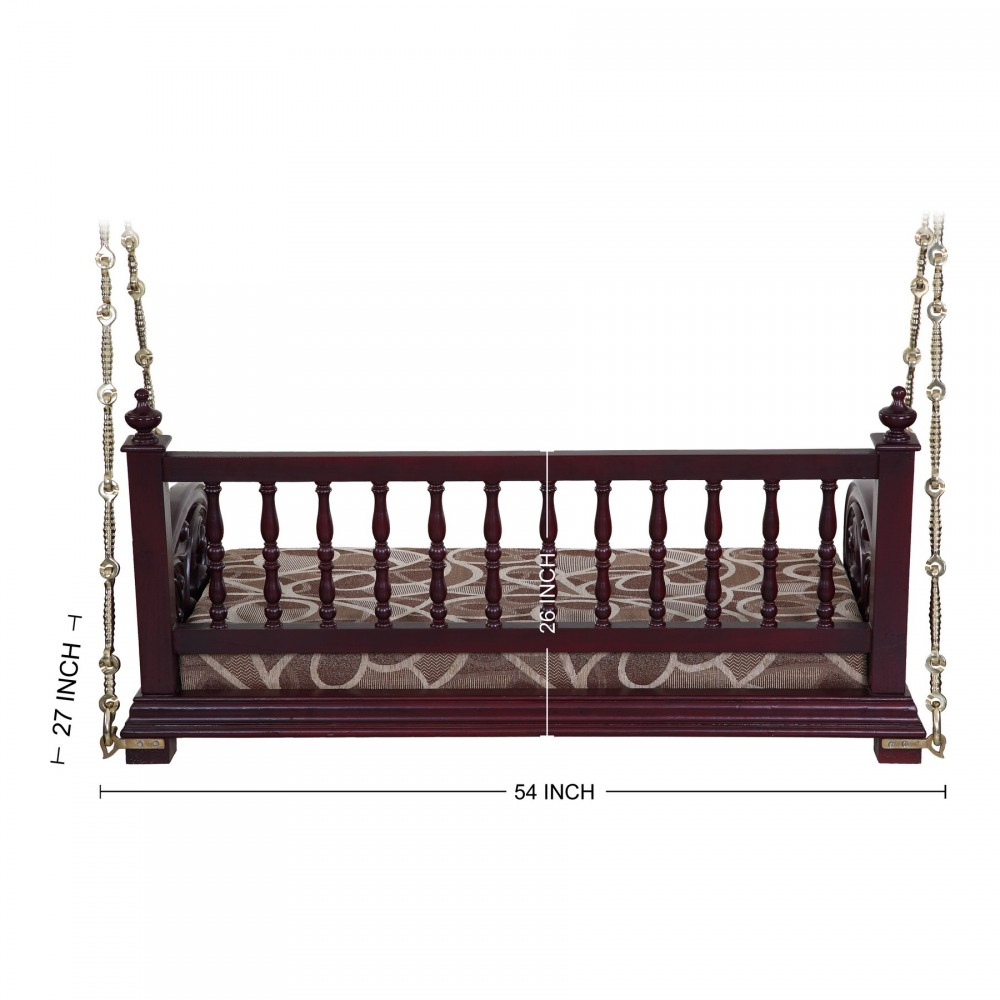 Indian Handcrafted Jhoola Indoor Two Seater For Sale