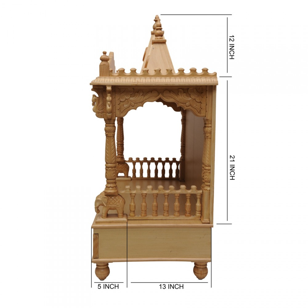 Indian Handcrafted Wooden Temple for Home - 160213_0988 - Sevan Wood ...