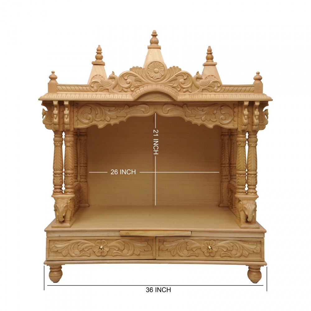 Indian Handcrafted Wooden Temple For Home   160213_0988   Sevan Wood Mandir,  Temples