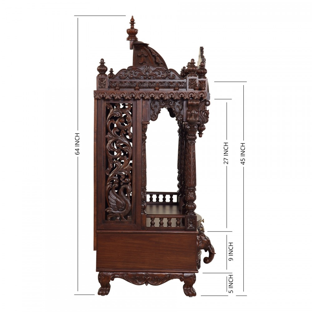 Handicraft Wooden Carving Home Pooja Mandir in USA - 091013_2963 ...