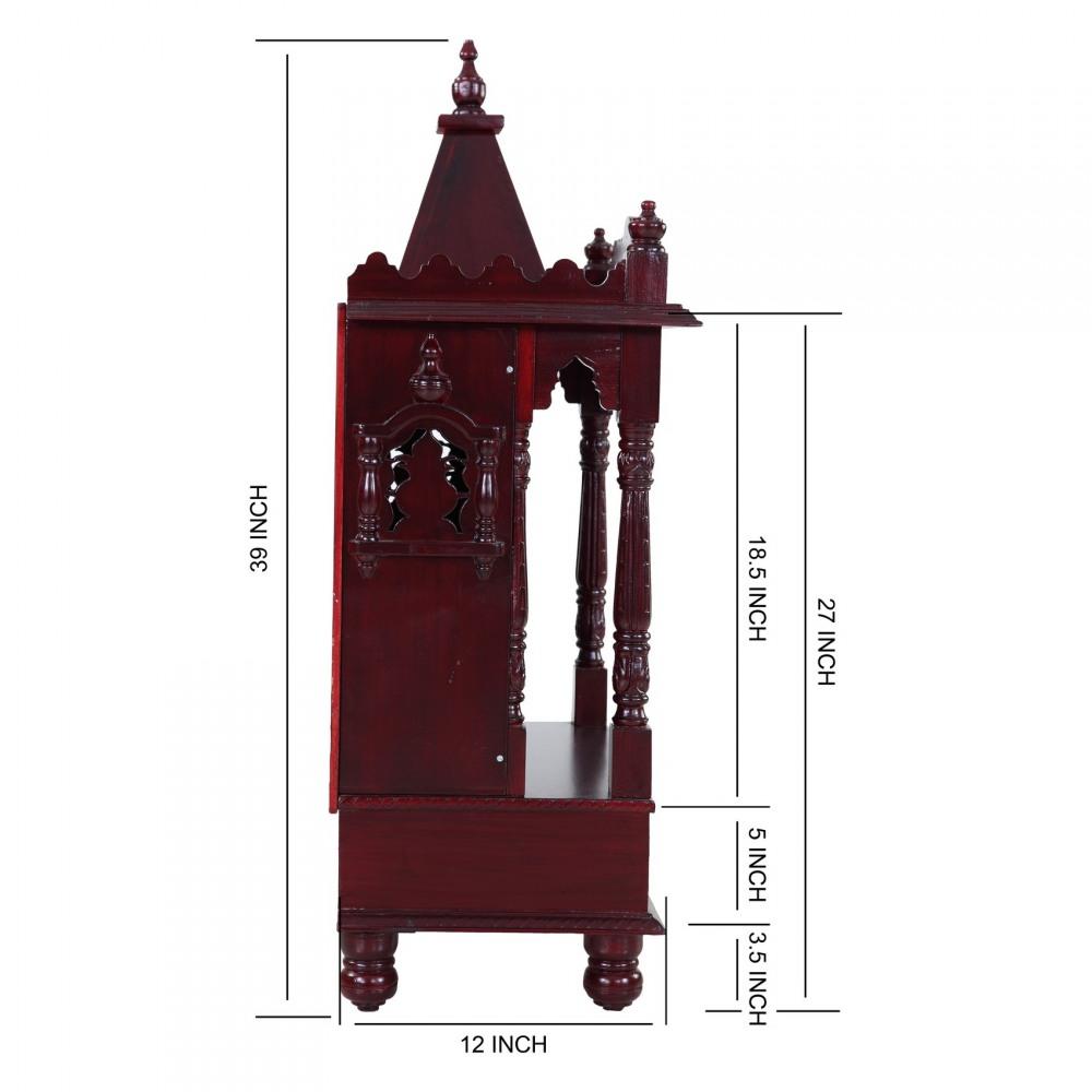 Traditional Indian Mandir Design for Home - 170613_2591 - Sevan Wood ...