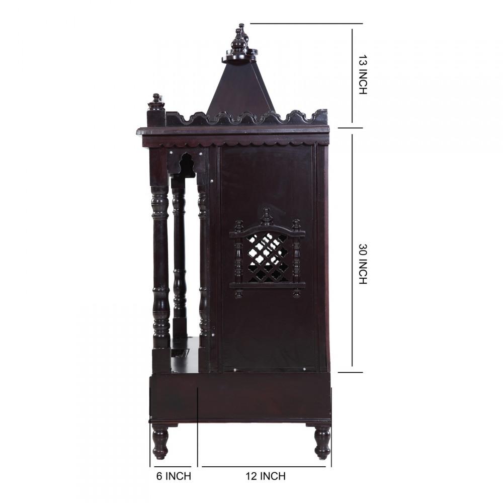 Indian Spiritual Sevan Wood Pooja Mandir Design for Home ...