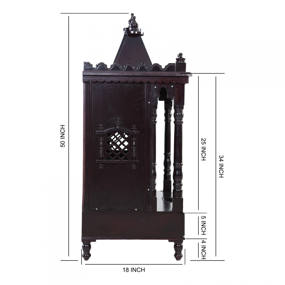 Indian Spiritual Sevan Wood Pooja Mandir Design for Home ...