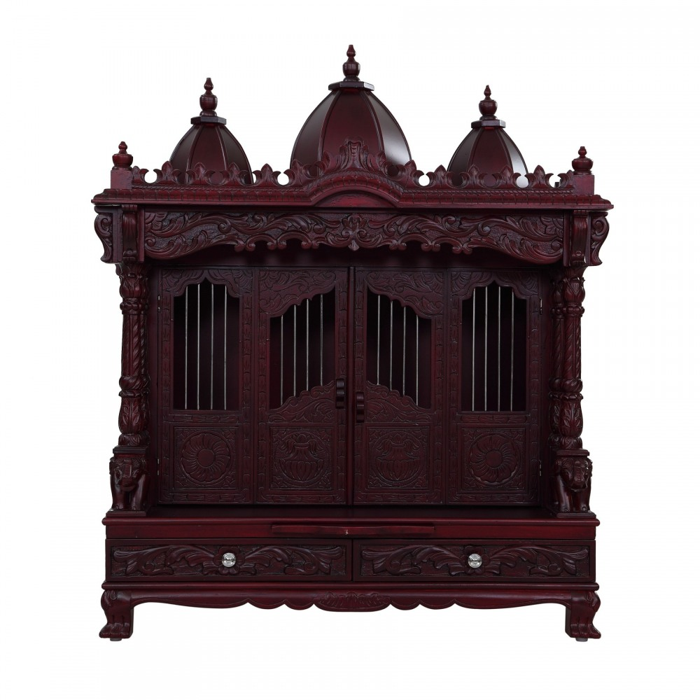 100 mandir decoration at home ganesh chaturthi decoration mandir decoration at home sevan wood carving with door pooja temple for home 240913 2945