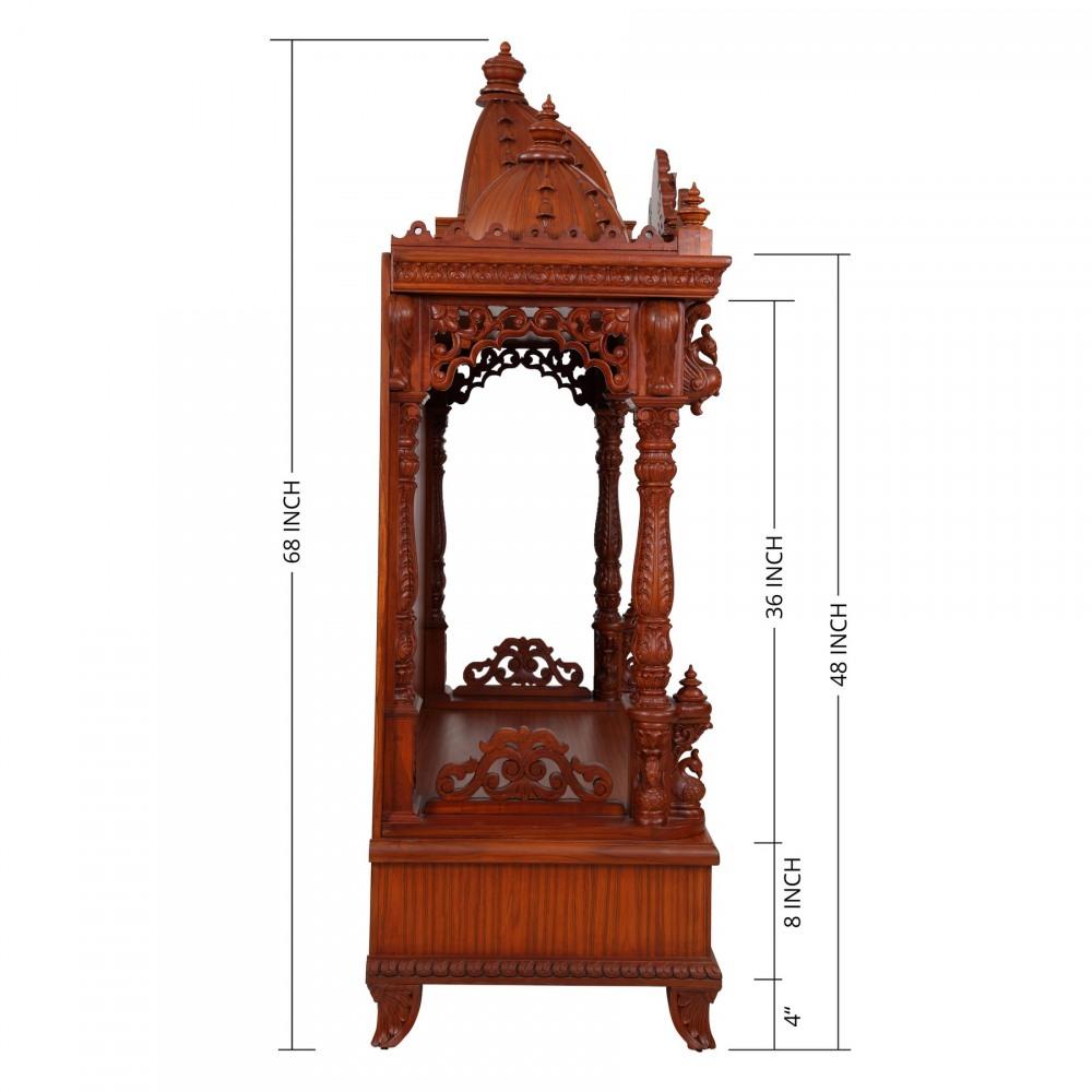 Teak Wooden Carving Home Pooja Mandir in USA - 280814_3036 - Teak ...