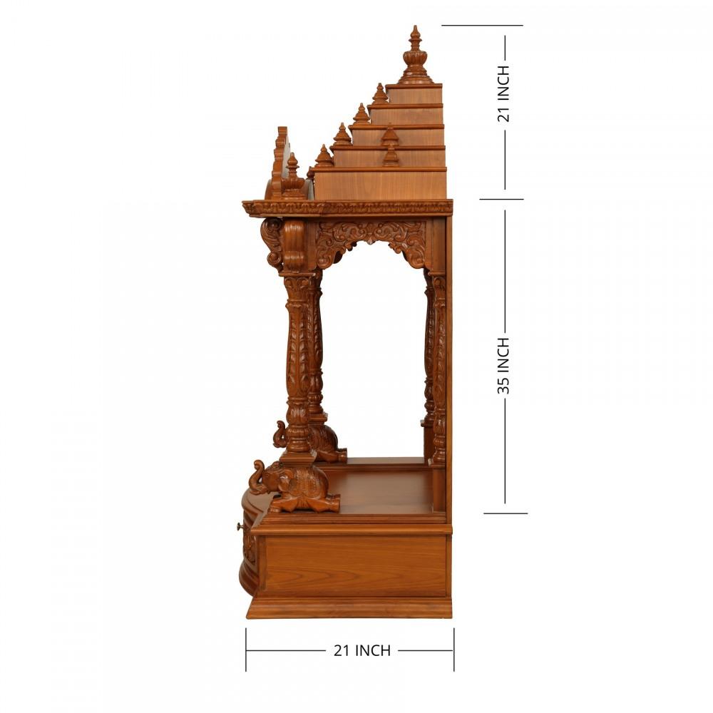 Indian Spiritual Wood Pooja Mandir For Home In USA 2808143054. Hindu ...