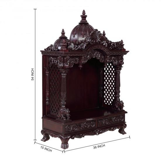 Indian Spiritual Wood Pooja Mandir For Home In USA   280814_3054   Sevan  Wood Mandir, Temples