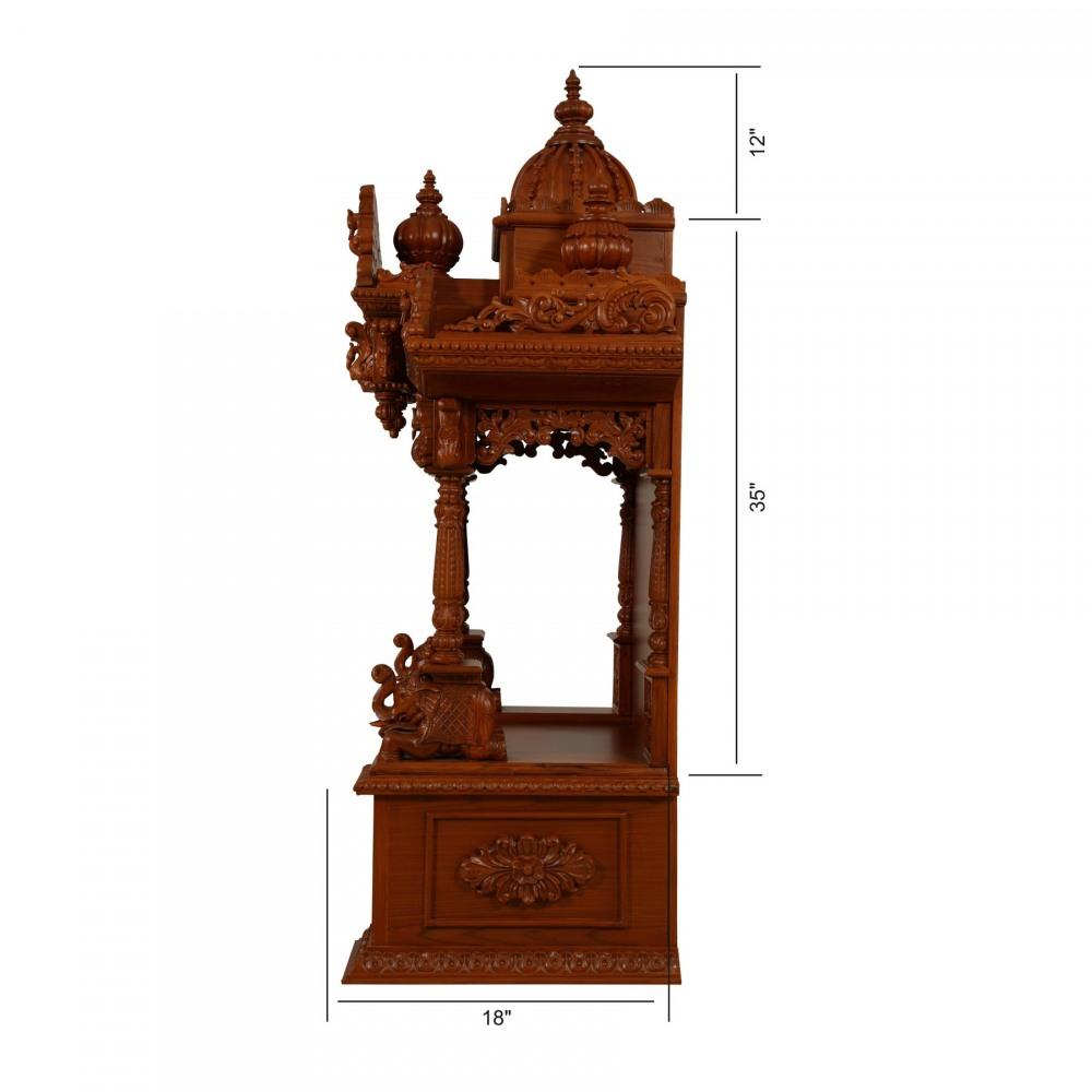 Handicraft Teak Wooden Carving Home Pooja Mandir in USA ...