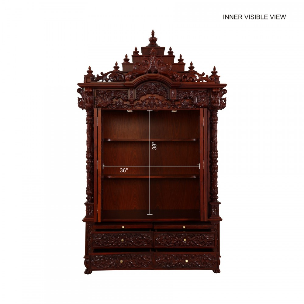 Indian spiritual teak wood pooja mandir for home in usa 280814 3085