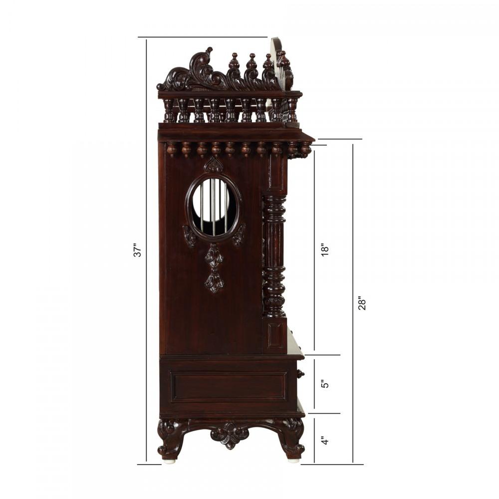Teakwood Big Temple with Door without Dome - TDW122537D - Teak Wood ...