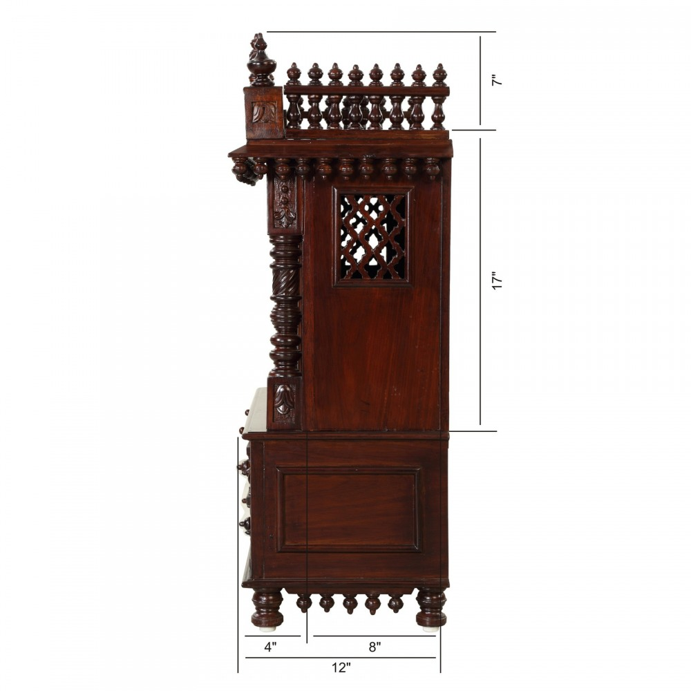 Teakwood Big Temple with Door without Dome - TDW122536D - Teak Wood ...
