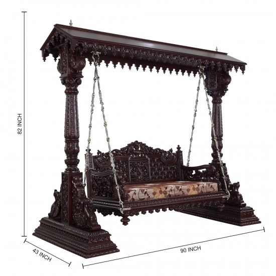 Beautiful Carved Indian Traditional Royal Swings For Usa Home Furniture 100113 2970 Indoor