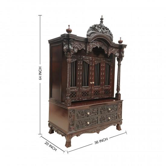 Teak Wood Carving Temples For Home 230812 0955 Teak Wood