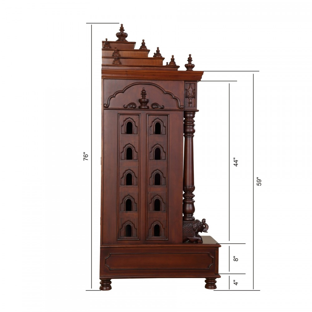 Teak Woode Temple with Door & Carving Work for USA Home ...