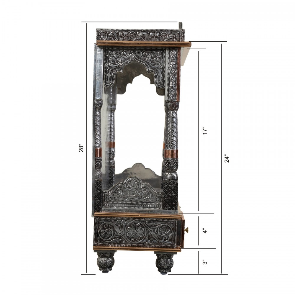 Oxidised Wood Open Big Temple For Home Pooja Mandir - OCOP092428 ...