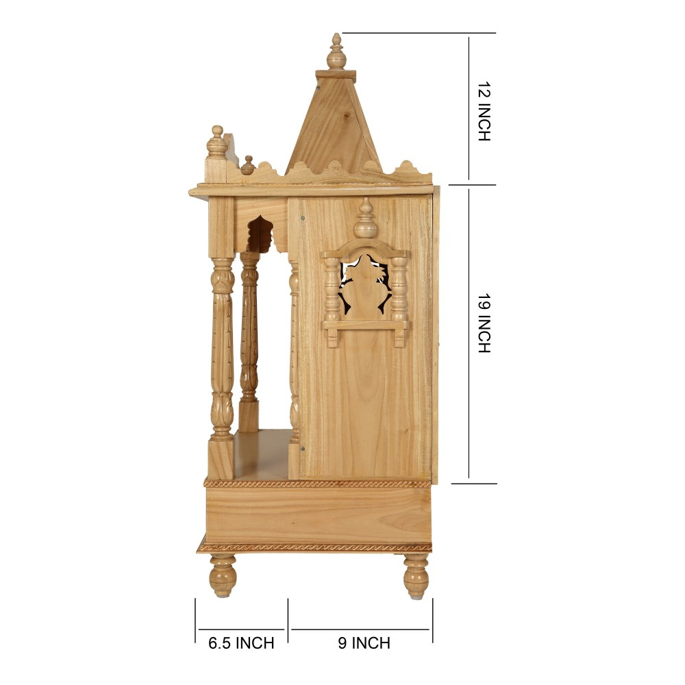 Sevan Wooden Mandir for Home Pooja Puja 22Lx15 - SW152240 - Sevan