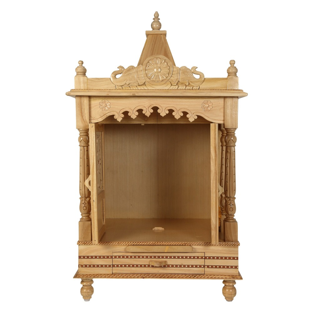 pooja mandir for home designs. Sevan Wooden Mandir For Home Pooja Puja 22Lx15  SW152240 Wood Temples