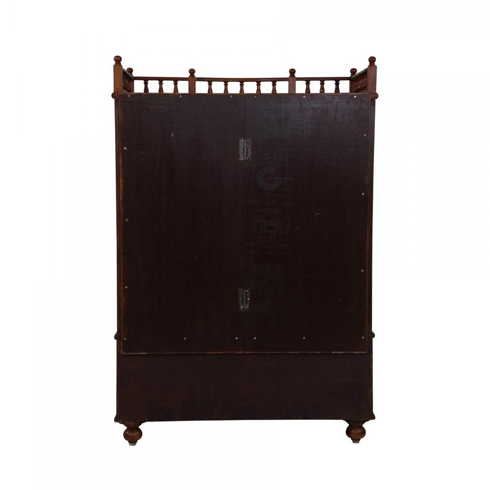 Teak Wood Haveli Temple for Home Puja - 280814_3061 - Teak Wood